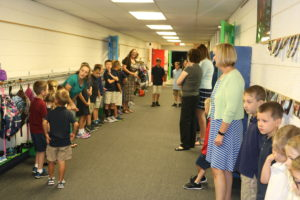 Starting off the school year with prayer.