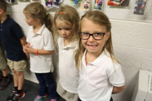 Lila gives us a HUGE ready for school smile!