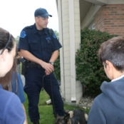 A Trooper and Roco share stories about dog handling